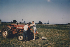 two teens and tractor pic